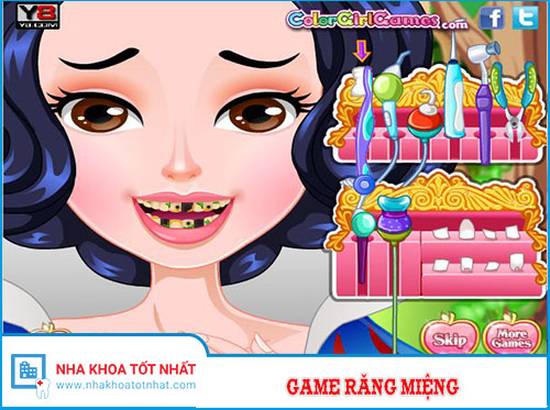 Game chăm sóc răng miệng Công Chúa