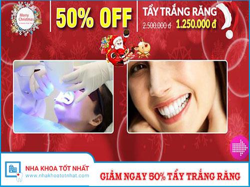 [NÓNG] Giảm Ngay 50% Tẩy Trắng Răng Nhân Dịp Noel 2016
