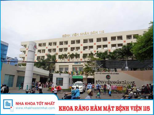 Khoa Răng hàm mặt - Bệnh viện 115 - 527 Sư Vạn Hạnh, P. 12, Q. 10