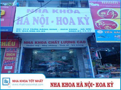 Nha khoa Hà Nội - Hoa Kì Số 213 Trần Đăng Ninh, P. Dịch Vọng, Q. Cầu Giấy