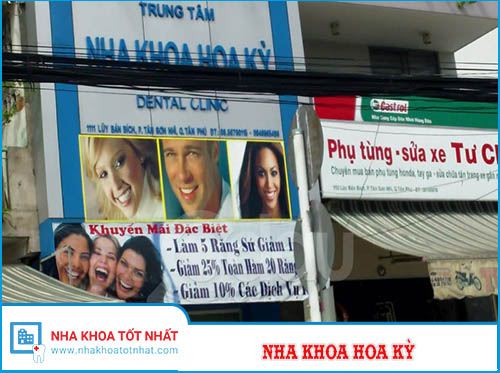 Nha Khoa Hoa Kỳ - 1111 Lũy Bán Bích, Phường Tân Sơn Nhì, Quận Tân Phú