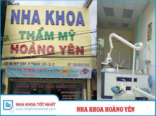 Nha khoa Hoàng Yên - 131 Hà Huy Giáp, P. Thạnh Lộc, Quận 12