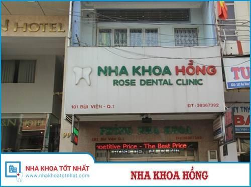 Nha khoa Hồng -101 Bùi  Viện, Quận 1, TP.Hồ Chí Minh.