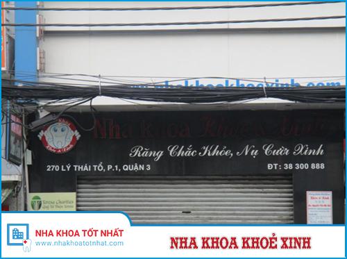 Nha khoa Khoẻ & Xinh - 270 Lý Thái Tổ, Phường 1, Quận 3, Hồ Chí Minh.