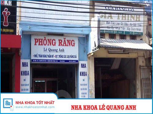 Nha khoa Lê Quang Anh - B106 Nguyễn Văn Quá, P. Đông Hưng Thuận , Quận 12