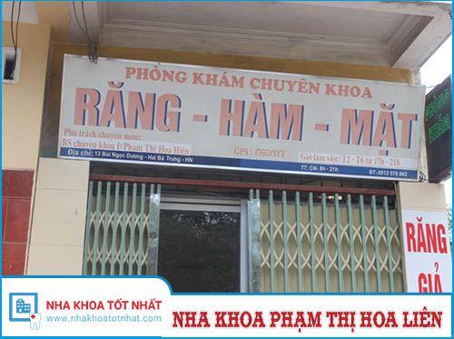 Nha khoa Phạm Thị Hoa Hiên - 13 Bùi Ngọc Dương, Thanh Nhàn, Hai Bà Trưng
