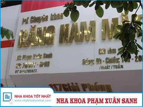 Nha khoa Phạm Xuân Sanh - 117 Giải Phóng, Đồng Tâm, Hai Bà Trưng
