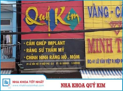 Nha khoa Quý Kim - 39 Lê Văn Việt, Phường Hiệp Phú, Q.9