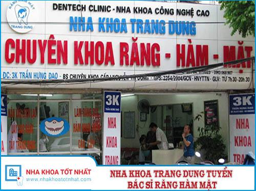 Tuyển Dụng Bác Sĩ Răng Hàm Mặt Tại Nha Khoa Trang Dung