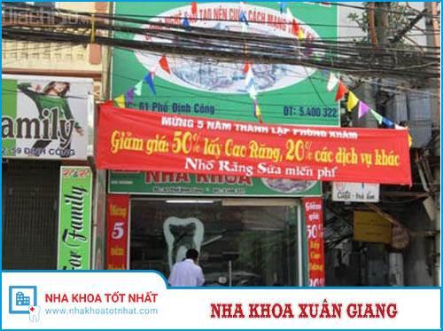 Nha khoa Xuân Giang - 61 Định Công, Thịnh Liệt, Hoàng Mai