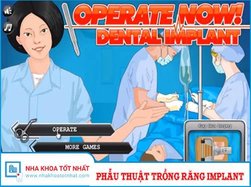 Trò chơi Phẫu Thuật Trồng Răng Implant